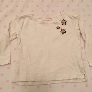 CrewCuts long sleeve with glitter stars 2T